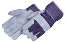 120 TOTAL PAIR OF REINFORCED LEATHER PALM WORK GLOVES  NEW **FREE SHIPPING**