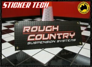 1/10 1/12 1/8 SCALE ROUGH COUNTRY SUSPENSION RC GARAGE WORK SHOP BANNER RC4WD