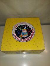 Vtg Mary Engelbreit 3 Pc Melamine Child's Dish Set New! 1994 + Utensil Set