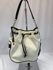 Fossil Austin Tote Bag Classic black and white Canvas Leather