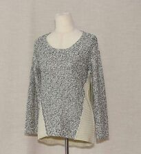 ModCloth Mellow Medley Twist Knit Classic Oversized Sweater XS fits Navy Ivory