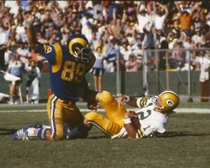 FRED DRYER 8X10 PHOTO LOS ANGELES RAMS LA PICTURE NFL FOOTBALL VS PACKERS