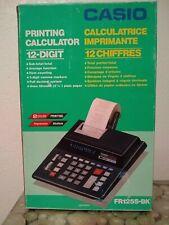 New Sealed Vintage Casio Printing Calculator 12-digit 2 Color Fr125S-Bk