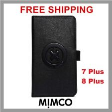 MIMCO Supernatural iPhone 7 8 PLUS case Black leather wallet cover flip DF