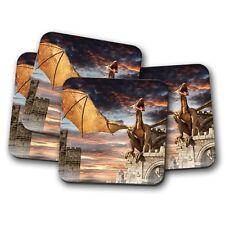 4 Set-impresionante Dragón Castillo Coaster-Fantasía Jugador Juegos Teen Regalo #14091