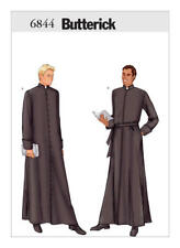 B6844 Butterick 6844 Sewing Pattern Men Costume Priest Clergy Matrix Robe Movie+