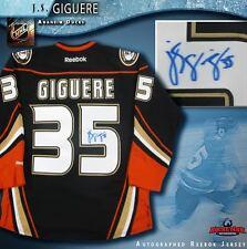 J. S. GIGUERE Signed Anaheim Ducks Reebok Alt. Jersey - 2007 Stanley Cup Champ