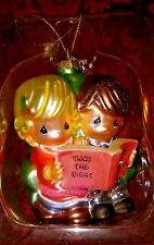 Precious Moments Twas the Night Before Christmas hand blown Glass Ornament Cute!