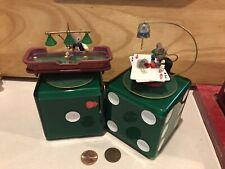 Enesco Mice N'Dice Music Box Banks Cards Dealer Rollin' A Winner Craps Table