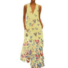 Plus Size Ladie Summer Boho Floral Printed Long Maxi Dress Casual Loose Sundress