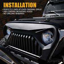 Xprite Matte Black Gladiator Vader Front Grille Grill 1997-2006 Jeep Wrangler TJ