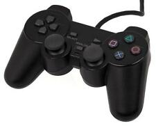 For PS2 PlayStation 2 Fashion Black Dual Shock Wired Controller Joypad Gamepad