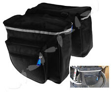 Bike Bicycle Cycling Tail Seat Cycling Double Side Rear Rack Pannier Bag MS