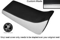 WHITE AND BLACK VINYL CUSTOM FOR YAMAHA BLASTER YFS 200 DUAL SEAT COVER ONLY