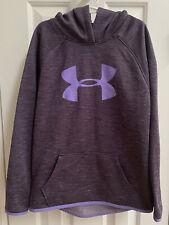 Under Armour Girls Purple Hooded Sweatshirt, Size Youth Medium YMD