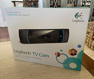 New LOGITECH V-U0022 REVUE GOOGLE TV HD VIDEO CALLS TV CAM SKYPE CARL ZEISS