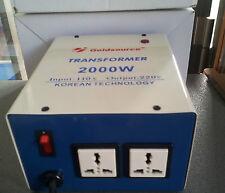 NEU SPANNUNGSWANDLER TRANSFORMATOR 110V AUF 230V 2000W KONVERTER WECHSELRICHTER