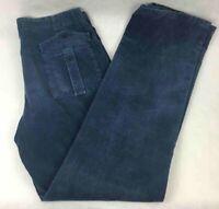 Trussardi Sport Mens Corduroy Straight Pants Blue Zip-Fly 100% Cotton 36 X 36