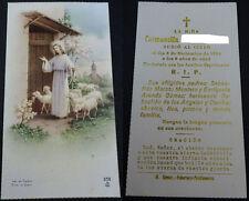 ESTAMPA HOLY CARD RECORDATORIO FALLECIMIENTO DE UNA NIÑA  AÑO 1961        CC1528