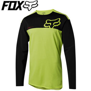 Fox Attack Pro Long Sleeve Cycling Jersey (2018) - Yellow/Black - Sizes M, L