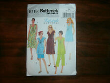 Butterick 5196 Size 8-14 Misses' Maternity Top Dress Shorts Pants
