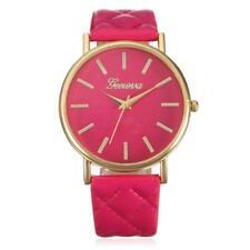 Popular Women Geneva Roman Watch Lady Leather Band Analog Quartz Wrist Watch