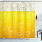 Abstract Shower Curtain Bubbles Beer Macro Print for Bathroom