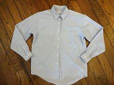 Lands End Blue and White Striped Oxford Cloth Blouse        Size 6