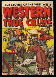 Western True Crime #15 (#1) First Issue Pre-Code Kamen Art Fox Comic 1948 GD-VG