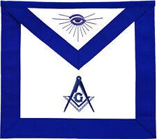 MASONIC BLUE LODGE MASTER MASON APRON HAND EMBROIDERED (MA-099-V)