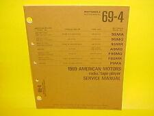 1969 AMC JAVELIN SST AMX SC/RAMBLER MOTOROLA 8-TRACK/AM-FM RADIO SERVICE MANUAL