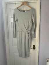 Mint Velvet Dress 10 Fine Knit Beautiful Dove Grey Immaculate