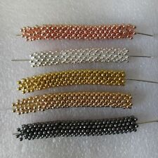 200 x  Round Metal Spacer Beads  4mm lady-muck1 4 Colours