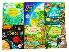 Usborne Look Inside Our world 6 Books Collection Set Nature, Jundle, Space  NEW