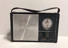 AIWA AR-16 Vintage Transistor AM / FM Radio with Leather Case - Tested & Works