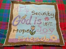 Fabric Tapestry Religious Panel God is...... Unfinish Wall Hang/Pillow Crafter