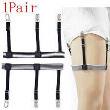 2pcs Mens Elastic Adjustable Shirt Stays Garters Leg Suspenders Holders ShirEcu