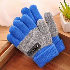 Boys Children Warm Knitted Gloves Winter Thick Full Mitten Finger Protector Sale