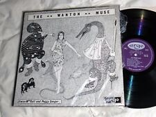 THE WANTON MUSE Erotic Songs EX+ UK Argo EWAN MacCOLL PEGGY SEEGER Stereo shrink