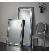 "Bowen Chrome Effect Frame Contemporary Overmantle Rectangle wall Mirror 42""x30"""