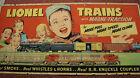 Rare 1953 Original Postwar Lionel Dealer Poster of Boy with 2056 and 2190W, G+