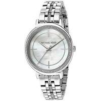 Michael Kors MK3641 Crystal Silver Cinthia Mother of Pearl Ladies Wrist watch