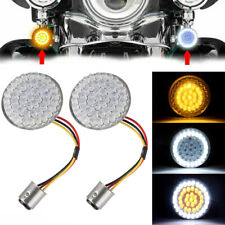 2X Bullet LED Turn Signal Lights 1157 Amber&White Insert Bulb For Dyna Softail