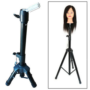 Mannequin Tripod Canvas Block Head Wig Display Stand Barber Shop
