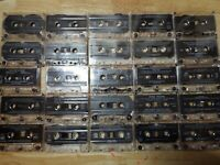 LOT: 25 CLEAR CASSETTE TAPES FOR CRAFTS VINTAGE WALL DECOR REPURPOSING DIY