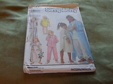 SIMPLICITY PATTERN FOR GIRLS PJS GOWNS AND ROBE SM-LG 7027