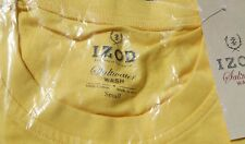 IZOD Yellow Saltwater WASH Pocket T-Shirt  Logo on Pocket 100% Cotton SMALL