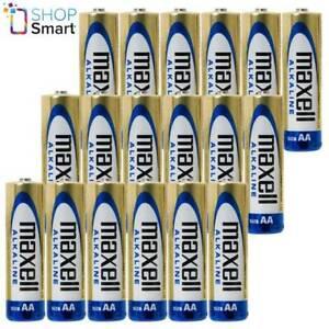 18 MAXELL ALKALINE AA R6 BATTERIES 1.5V  MN1500 AM3 E91 EXP 2023 NEW
