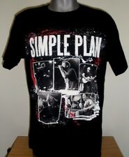 New Men's Simple Plan Band T-Shirt Get Your Heart on Tour 2011 Black Size: L