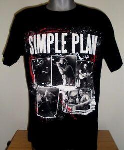 New Men's Simple Plan Band T-Shirt Get Your Heart on Tour 2011 Black Size: L
